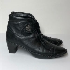 Joseph Siebel Heeled Ankle Boots w/ Velcro Close